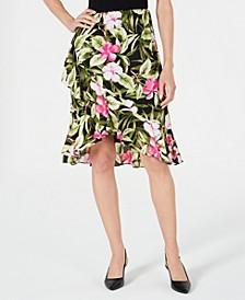 Ruffled Floral-Print Skirt