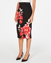bde48a904dd67b Alfani Printed Scuba Skirt, Created for Macy's
