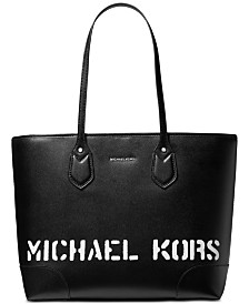 MICHAEL Michael Kors Saylor Crossgrain Leather Tote