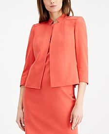 3/4-Sleeve Stand-Collar Jacket