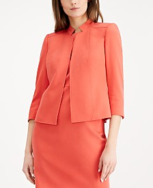 Anne Klein 3/4-Sleeve Stand-Collar Jacket
