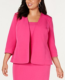 Plus Size Open-Front Jacket
