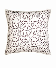Lillian August Provence Lilac Leaf Decorative Pillow