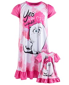 Little & Big Girls 2-Pc. Graphic-Print Nightgown Set