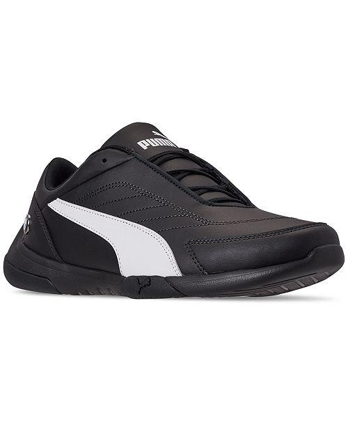 Puma Mens Fast Cat Leather Motorsport Sneakers Athletic Men