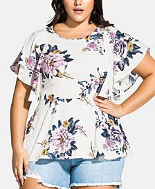 City Chic Trendy Plus Size Summer Love Top