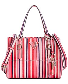 GUESS Carys Stripe Satchel