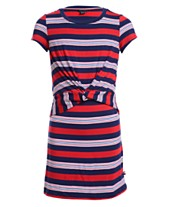 ae7be02c3469 Tommy Hilfiger Big Girls Striped Twist-Front Dress