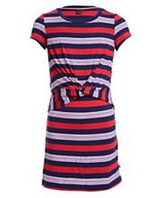 1d9495e5028d Tommy Hilfiger Big Girls Striped Twist-Front Dress