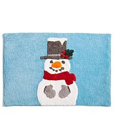 """Snowman 20"""" x 30"""" Bath Rug, Created for Macy's"""