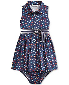 Polo Ralph Lauren Baby Girls Cotton Poplin Pattern Dress