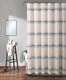 "Farmhouse Stripe 72"" x 72"" Shower Curtain"