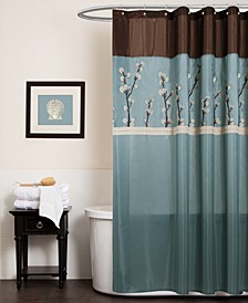 """Cocoa Flower 72"""" x 72"""" Shower Curtain"""