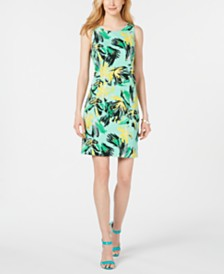 Pappagallo Floral Scuba Sheath Dress