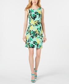 Pappagallo Floral Scuba Sheath Dress