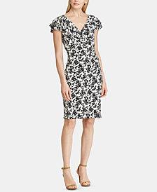 Lauren Ralph Lauren Petite Floral-Print Flutter Cap-Sleeve Dress