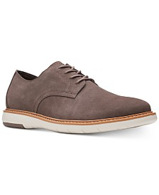 Clarks Men's Draper Taupe Suede Casual Lace-Up Shoes