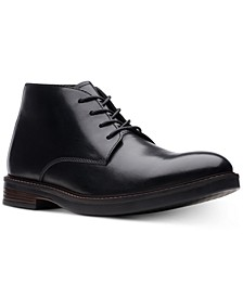 Men's Paulson Mid Black Leather Casual Boots