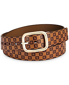MICHAEL Michael Kors Reversible Checkerboard Leather Belt