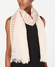 Eileen Fisher Organic Cotton Fringe-Trim Wrap Scarf