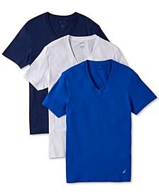 Men's 3-Pk. Cotton V-Neck Undershirts