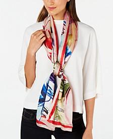 Waterpastel Floral Silk Oblong Scarf