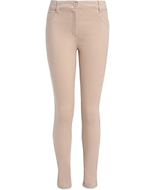 Little Girls Sateen Skinny Pants