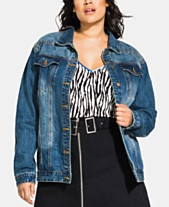 e2f42c9edc City Chic Trendy Plus Size Vintage-Inspired Boyfriend Jean Jacket