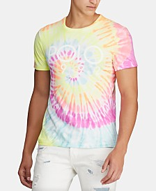 Polo Ralph Lauren Men's Logo Graphic Tie-Dye T-Shirt