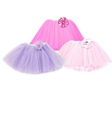One Size Girls Flower Tutu Skirts Set Of 3