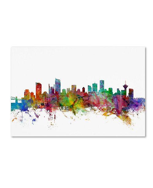 "Trademark Global Michael Tompsett 'Vancouver Canada Skyline' Canvas Art - 12"" x 19"""