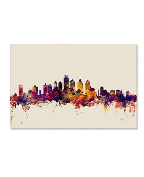 """Trademark Global Michael Tompsett 'Philadelphia Skyline IV' Canvas Art - 12"""" x 19"""""""
