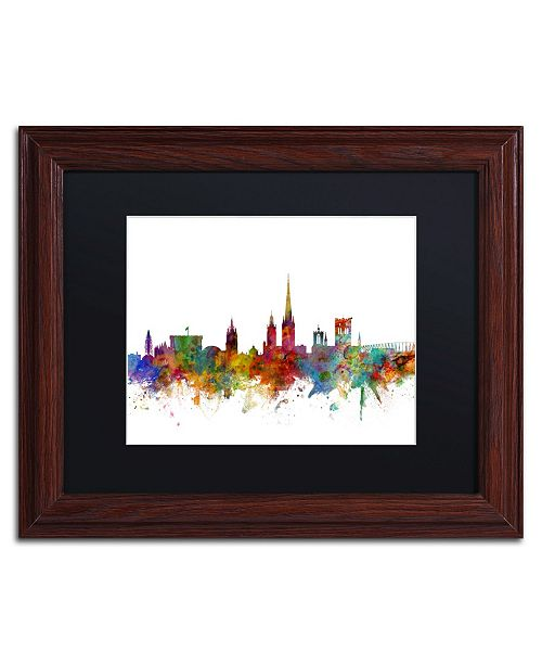 """Trademark Global Michael Tompsett 'Norwich England Skyline II' Matted Framed Art - 11"""" x 14"""""""