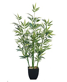 "Laura Ashley 32"" Tabletop Mini Bamboo Plant in Planter"