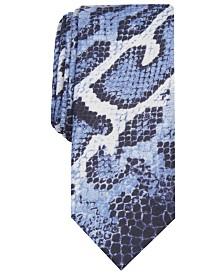 I.N.C. Men's Skinny Burmese Python Tie, Created for Macy's