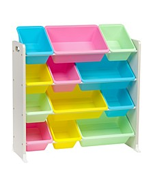 4-Tier Storage Bin Rack