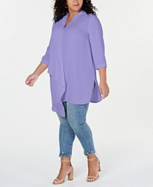 Plus Size Asymmetrical Tunic Top