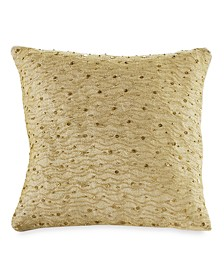 "Home Gilded 12"" Square Decorative Pillow"