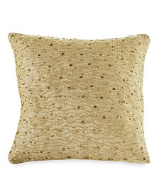 "DKNY Gilded 12"" Square Decorative Pillow"