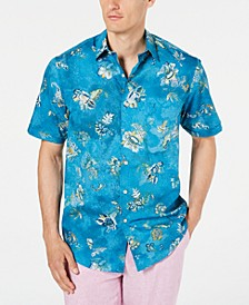 Men's Flusso Printed Stretch Shirt, Created for Macy's