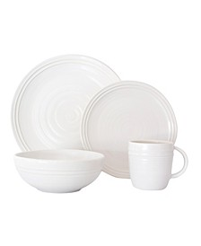 Lines 16 Piece Dinnerware Set, Service for 4