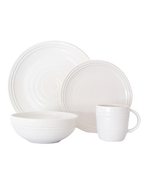 Canvas Home Lines 16 Piece Dinnerware Set, Service for 4