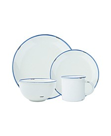 Tinware 16 Piece Dinnerware Set, Service for 4