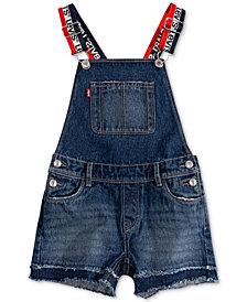 Levi's® Little Girls Cotton Denim Shortall