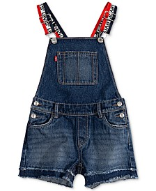 Levi's® Little Girls Cotton Denim Shortall