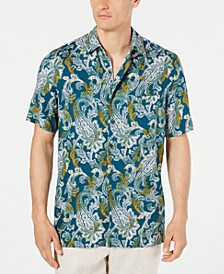 Men's Monte Paisley Silk Shirt, Created for Macy's
