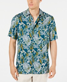 Tasso Elba Men's Monte Paisley Silk Shirt, Created for Macy's