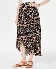 Style & Co Petite Printed High-Low Skirt, Created for Macy's