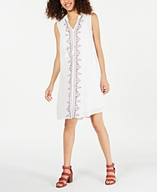 Petite Embroidered Dress, Created for Macy's