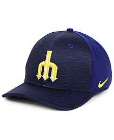 Nike Seattle Mariners Velocity Swooshflex Stretch Fitted Cap